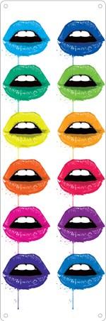 Framed Pucker Up - Multicolour Kiss