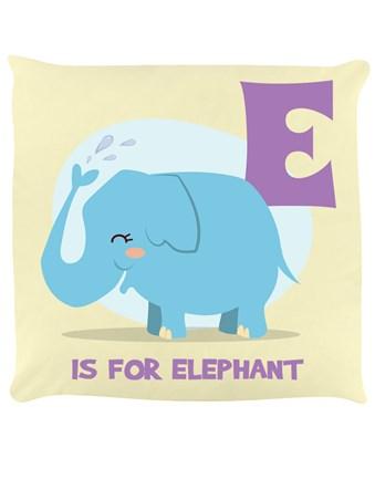 Framed E Is For Elephant - Wildlife Fun