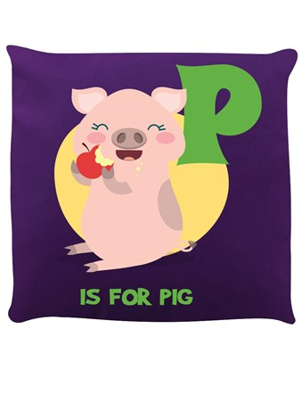 Framed P Is For Pig - Purple Piggy