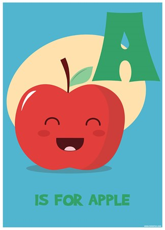 A Is For Apple - Alphabet Art