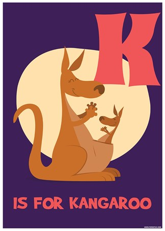 K Is For Kangaroo - Animal Alphabet