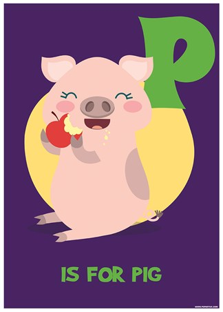 P Is For Pig - Fun Learning