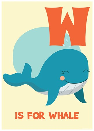 W Is For Whale - Learning By Pictures