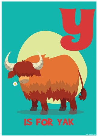 Y...Is For Yak! - Alphabet Art