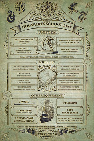 Hogwarts First Year Essentials - Harry Potter