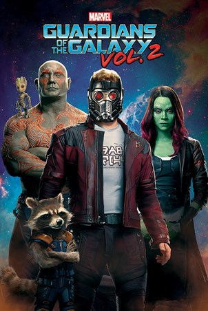Characters In Space - Guardians Of The Galaxy Vol.2