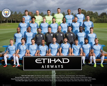 Framed Team Photo 2016/17 - Manchester City