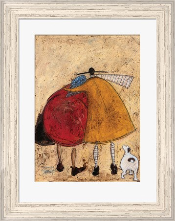 Pale Wood Finish Framed On The Way Home - Sam Toft