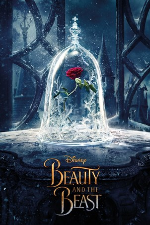 Framed Enchanted Rose - Beauty and the Beast Movie