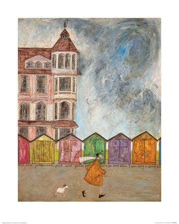 Framed I Can Sing a Beach Hut - Sam Toft