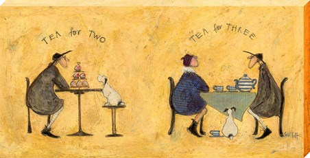 Framed Tea for Two Tea for Three - Sam Toft