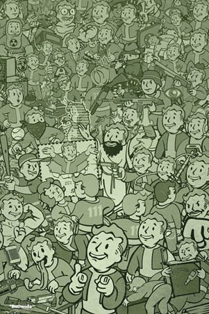 Framed Vault Boy Compilation - Fallout
