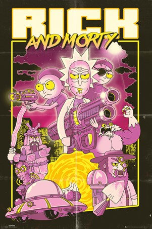 Framed Action Movie - Rick and Morty