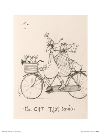 The Cat Taxi Service Sketch - Sam Toft