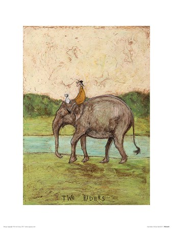 Framed Two Riders - Sam Toft
