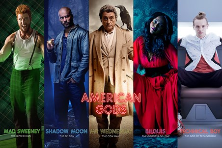 Framed Character Collage - American Gods