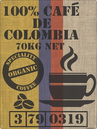 Framed Cafe De Colombia - Speciality Organic Coffee