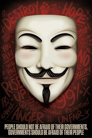 Governments Should Be Afraid Of Their People, V for Vendetta