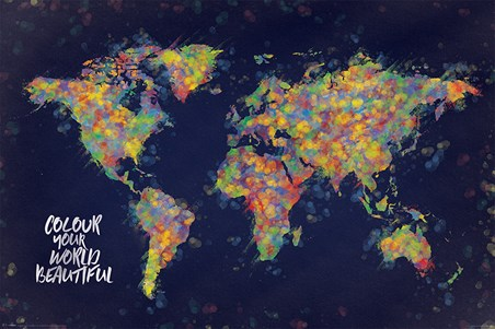 Framed Colour Your World Beautiful - Atlas