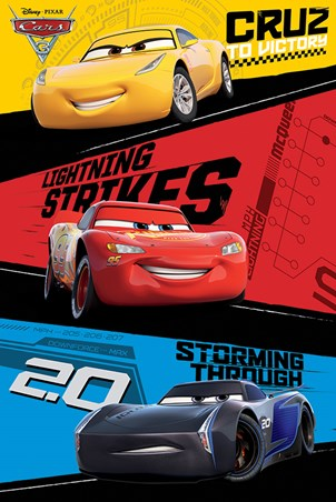 Red, Blue & Yellow Trio - Cars 3