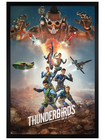 Black Wooden Framed Get Ready For The Next Adventure - Thunderbirds Are Go!