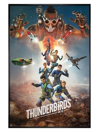 Framed Gloss Black Framed Get Ready For The Next Adventure - Thunderbirds Are Go