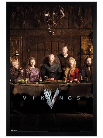 Black Wooden Framed Table - Vikings