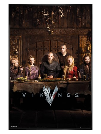 Gloss Black Framed The Notorious Norse - Vikings