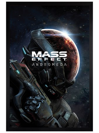 Black Wooden Framed A New Galaxy - Mass Effect Andromeda