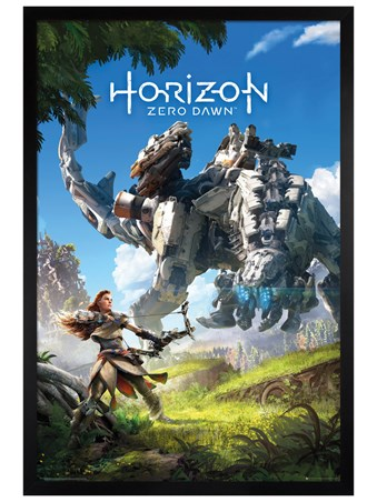 Black Wooden Framed Protector Of The Earth - Horizon Zero Dawn
