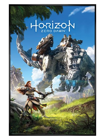 Framed Gloss Black Framed Protector Of The Earth - Horizon Zero Dawn