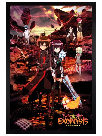 Black Wooden Framed Sousei No Onmyouji - Twin Star Exorcists