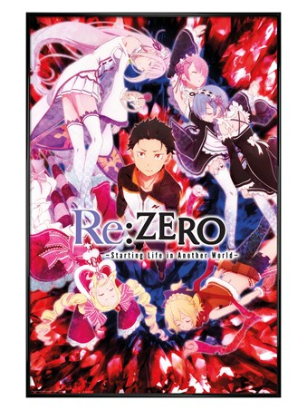 Gloss Black Framed Key Art - Re Zero