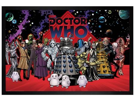 Black Wooden Framed Villain Compilation - Doctor Who