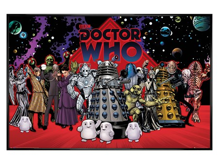 Gloss Black Framed Villain Compilation - Dr Who