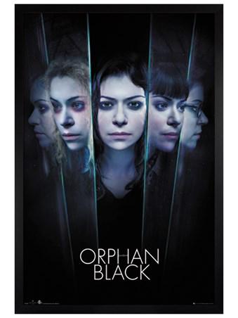 Framed Black Wooden Framed Faces - Orphan Black