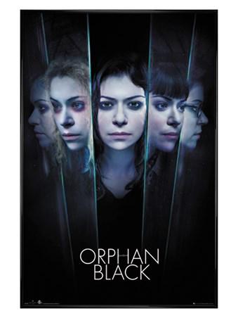 Gloss Black Framed Faces - Orphan Black