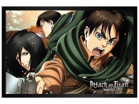 Black Wooden Framed Scouts - Attack On Titan Season 2