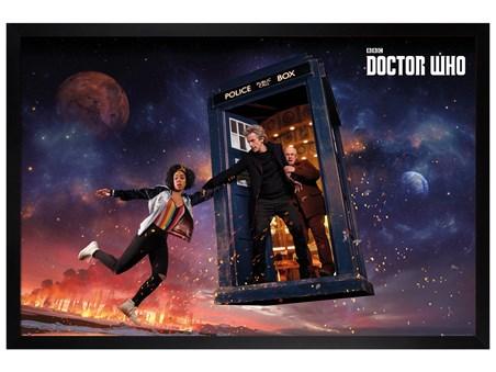 Black Wooden Framed Season 10 Iconic - Doctor Who
