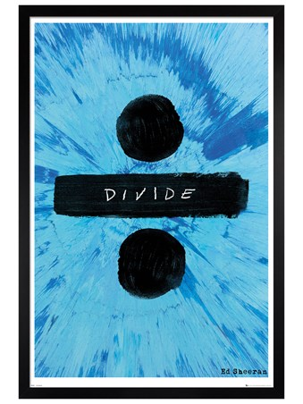 Black Wooden Framed Divide - Ed Sheeran