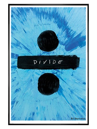 Gloss Black Framed Divide - Ed Sheeran