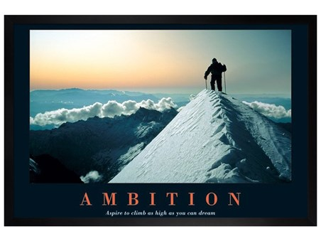 Black Wooden Framed Aspire To Climb As High As You Dream - Ambition