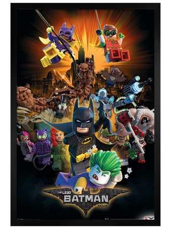 Black Wooden Framed Boom! - LEGO® Batman