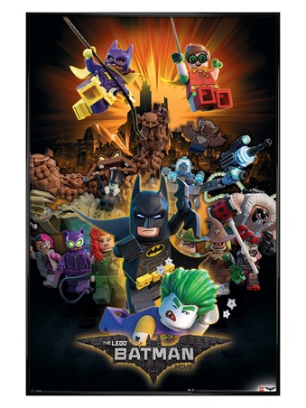 Gloss Black Framed Boom! - LEGO® Batman