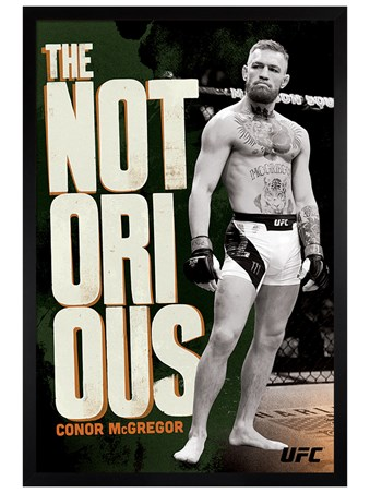 Black Wooden Framed Mystic Mac Monochrome - UFC: Conor McGregor