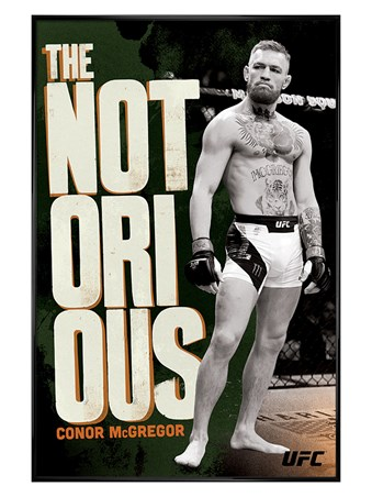 Gloss Black Framed Mystic Mac Monochrome - UFC: Conor McGregor