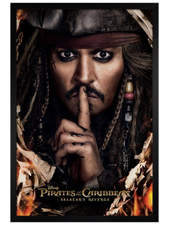 Black Wooden Framed Can You Keep A Secret - Pirates of the Caribbean