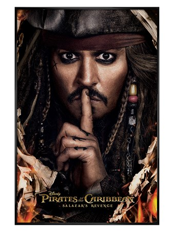 Gloss Black Framed Can You Keep A Secret? - Pirates of the Caribbean: Salazars Revenge