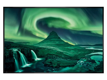 Gloss Black Framed The Northern Lights - Aurora Borealis