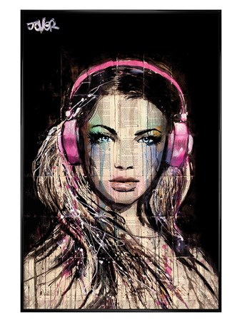 Gloss Black Framed DJ Girl - Loui Jover
